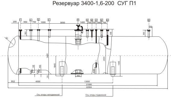 Резервуар 3400-1,6-200 СУГ П1
